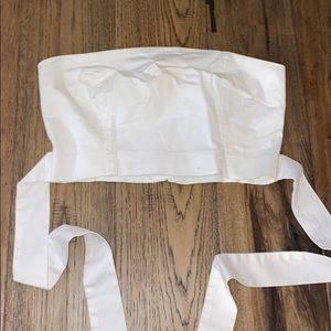 White Wilfred Tied Tube Top